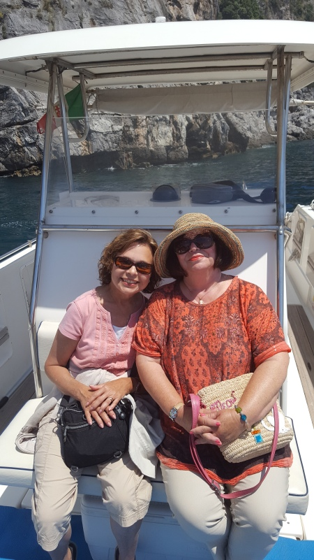 Taking boat ride from Praiano to Positano