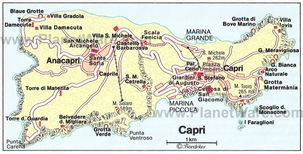 amalfi capri-map
