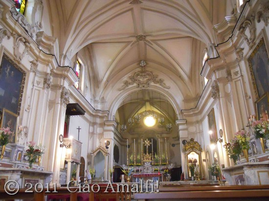 amalfi church Ciao-Amalfi-Coast-Blog-Festival-of-SantAntonio-Church-Nave