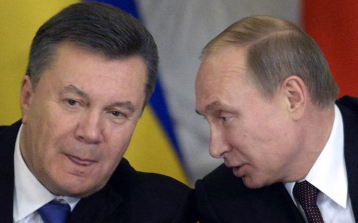Ukraine President Viktor Yanukovych with Russian President Putin
