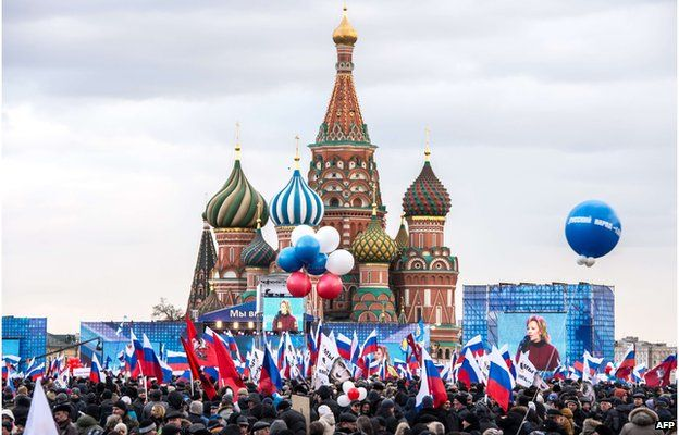 Russia celebrating annexation of Crimea