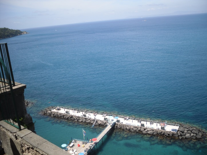 Sorrento sea view from café