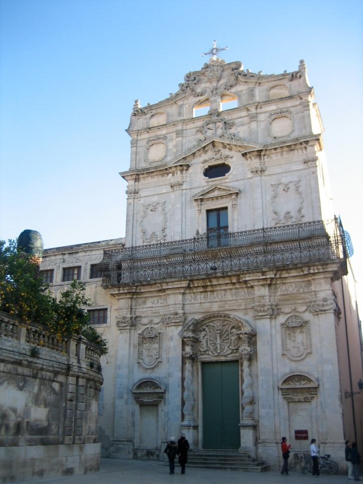 ORTIGIA « IN CHURCH CARRAVEGIO ST LUCY