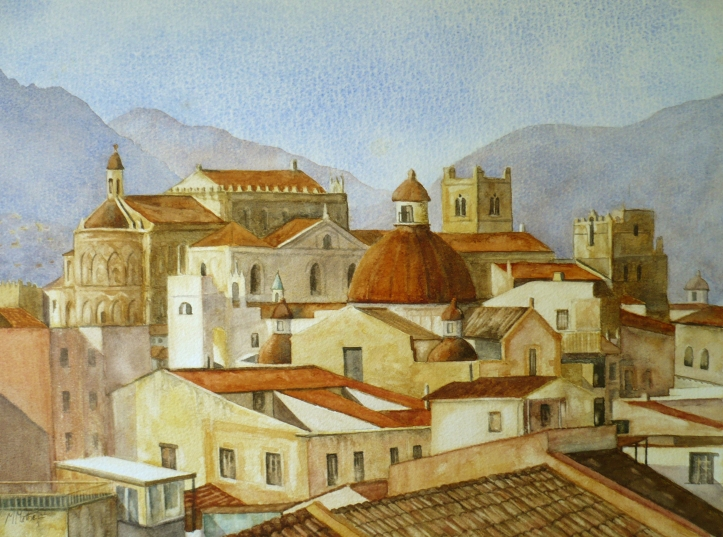 sicxily painting Monreale-Sicily 0000