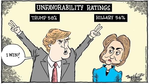 elections great cartoon hrc and trump cartoon