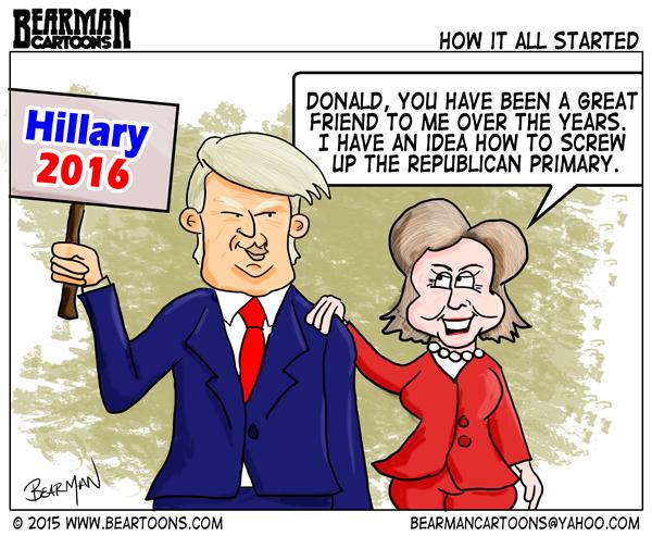 elections great cartoon trump helps hillary