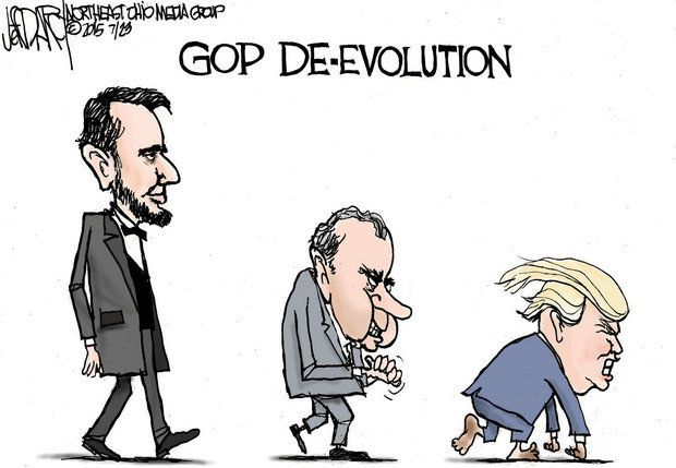 ELECTIONS OUTSTANDING CARTOON DEVOLUTION repub6