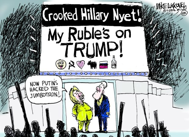 elections putin-and-trump-and-hacking-cartoon-luckovich