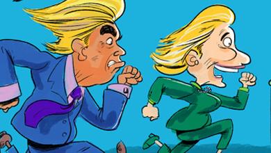 elections-hillary-clinton-vs-donald-trump-cartoon-390x220