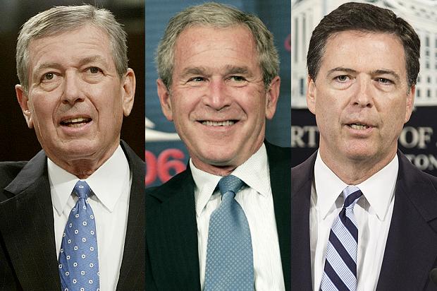 Ashcroft-Bush-Comey REUTERS/Joshua Roberts