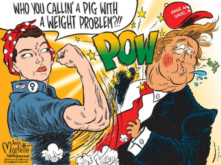 clinton-dt-being-punched-by-lady-great-image