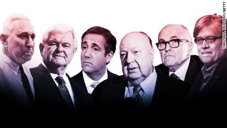 Some of Donald Trump's Boys Club
