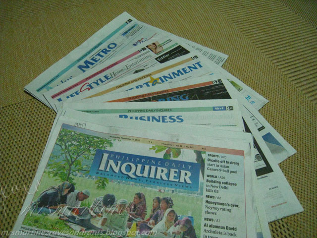 Image result for photo of inquirer newspaper