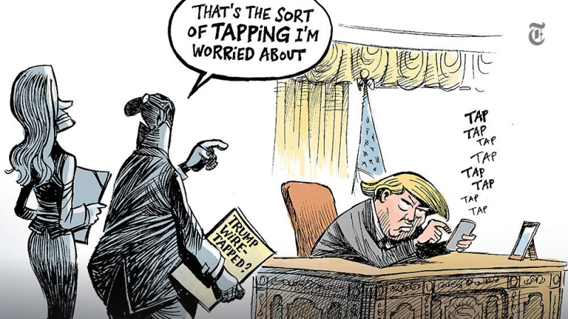 Image result for cartoon on trump twitter
