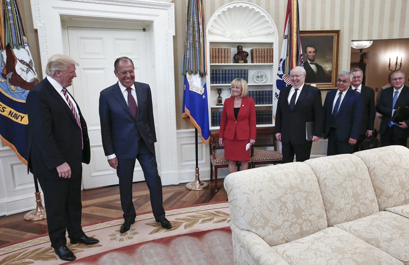 Image result for photos of president and russian visitors lavrov and kislyak