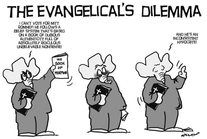 Image result for cartoons on evangelicals
