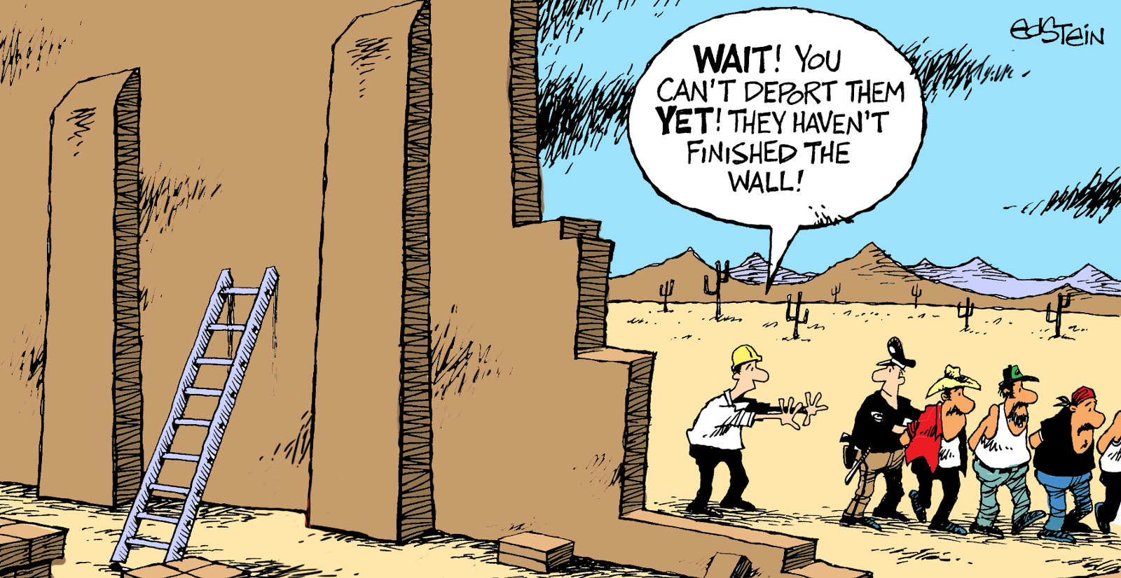 Image result for CARTOONS ABOUT TRUMP Peña Nieto THE WALL