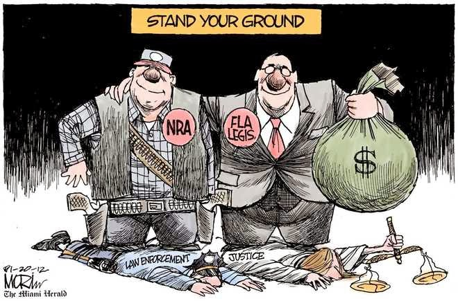 Image result for CARTOONS ON STAND YOUR GROUND LAWS