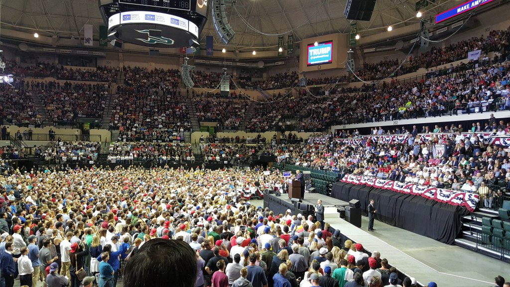 Image result for photos of trump at tampa rally