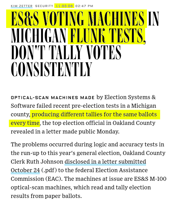 Michigan, ES&S and the Voting Machines that Couldn't Count | by Mike Farb | Medium